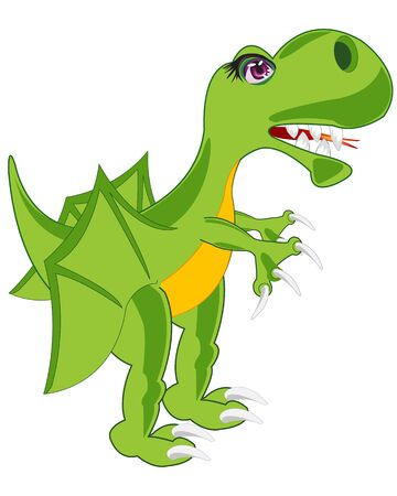 insulated: Prehistorical reptile dinosaur on white background is insulated