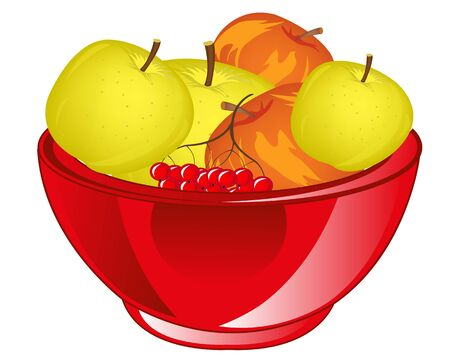 chalice: Big chalice with fruit apple on white background is insulated