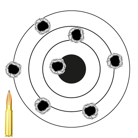 intention: The Round dartboard with hole from pool and patron.Vector illustration
