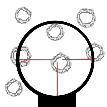 hole: The Purpose with hole and optical sight.