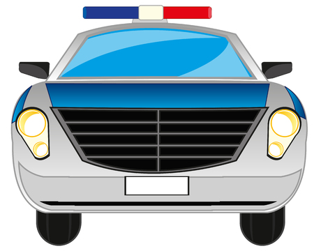 insulated: Police car on white background is insulated Illustration