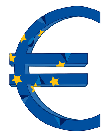 rifts: Sign and symbol euro on white background is insulated