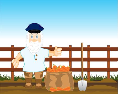 campesinas: Campesino cava zanahoria
