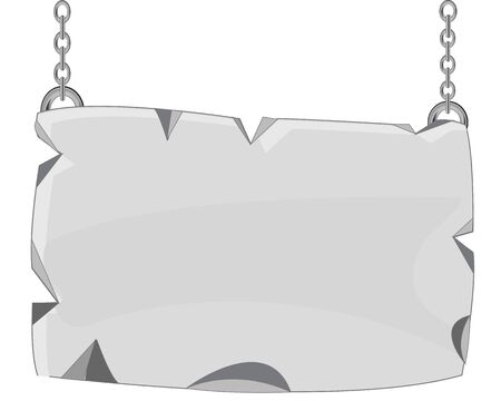 rifts: Plate from stone on chain Illustration