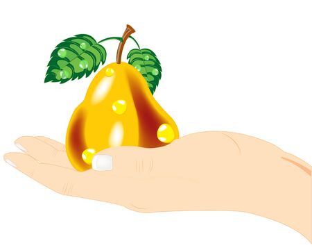 Pear in hand