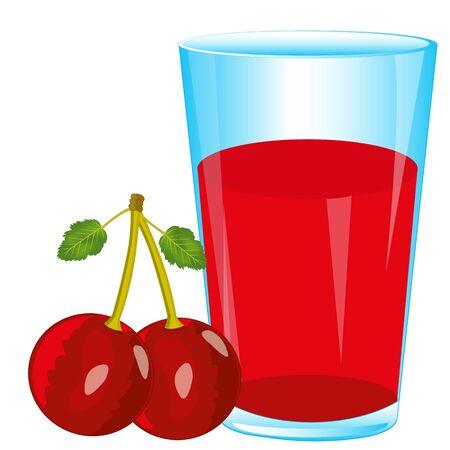 Juice and berry cherry
