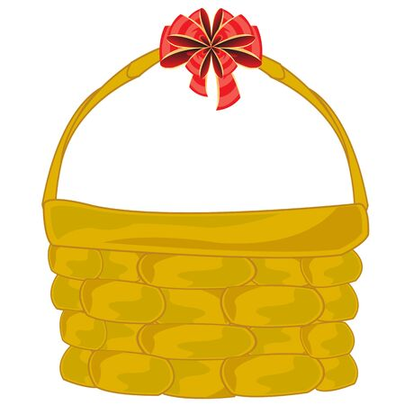 braided: Braided basket with bow Illustration