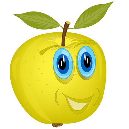 Cartoon alive apple