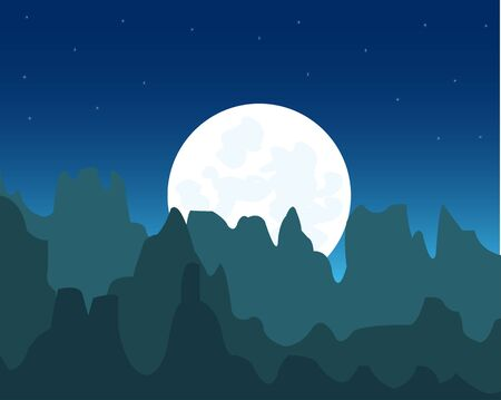 moon: Steep mountains and moon