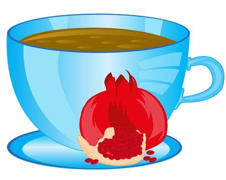 garnets: Tea with fruit garnet