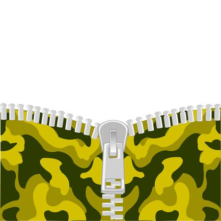 Clasp lightning on fabrics camouflage for military