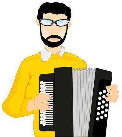 concerto: Man with accordeon