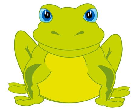 Cartoon animal frog