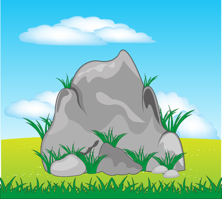 Stone on nature 向量圖像