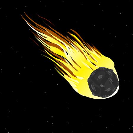 Comet in cosmos Stock Vector - 82019407