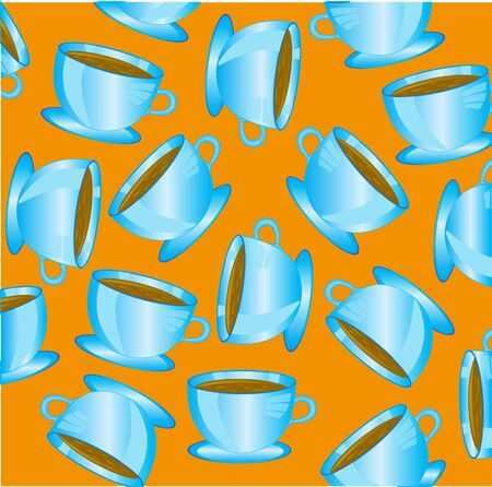 Cup blue with drink