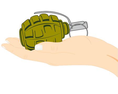 Grenade in hand Ilustração