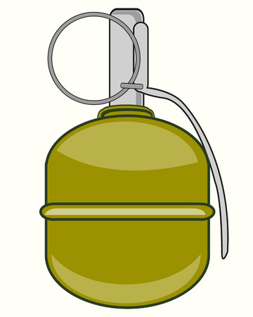 Weapon grenade manual on white background is insulated Illustration