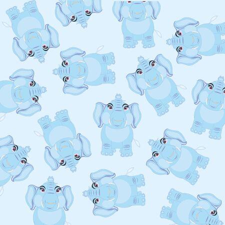 Cartoon animal elephant on white background is insulated Illustration
