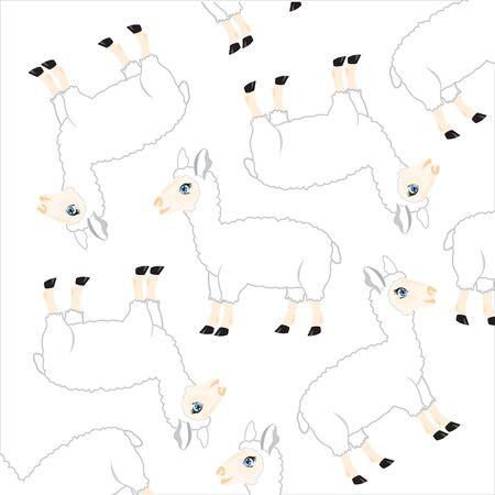 Sheep pattern. Reklamní fotografie - 85283384