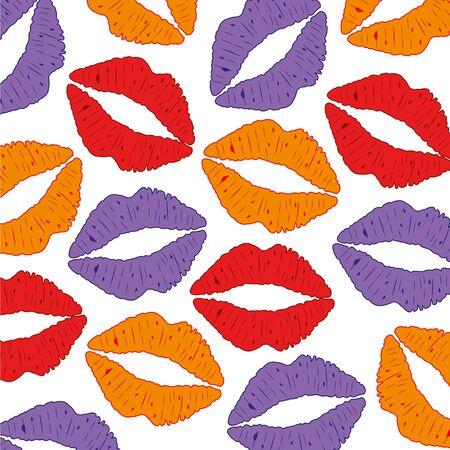 女性的な唇のベクトル図から背景