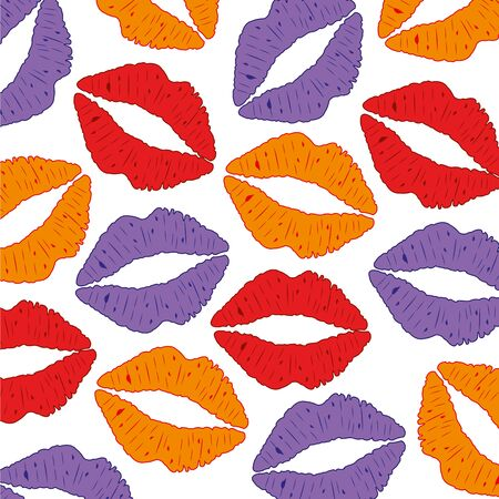 Background from feminine lips vector illustration