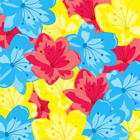 Year colorful background from varied flower.Vector illustration Illusztráció