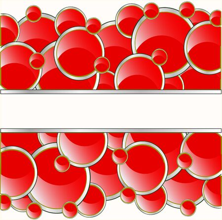 Red circles background, vector illustration.