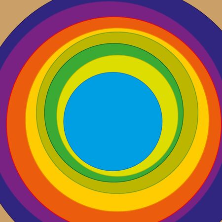 Circles with varied colour