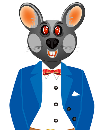 Mouse in suit