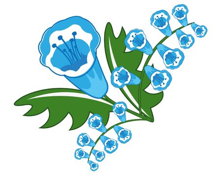 Beautiful blue flower Banco de Imagens