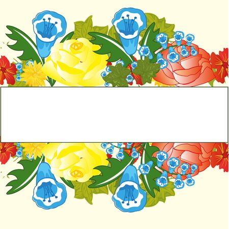 Decorative floral background Vector illustration. Ilustração
