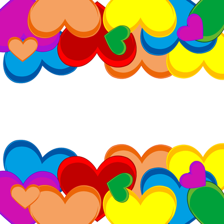 Background from symbol heart on white background