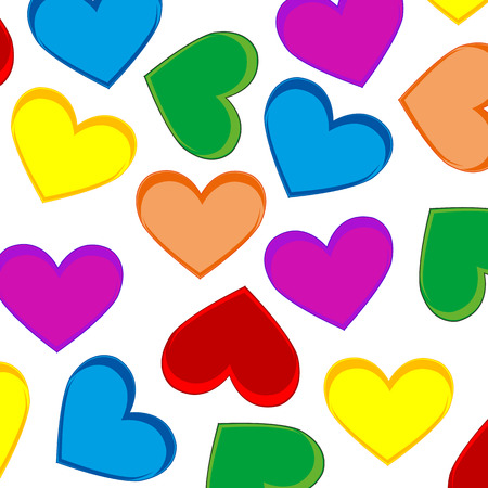 Background from heart colour