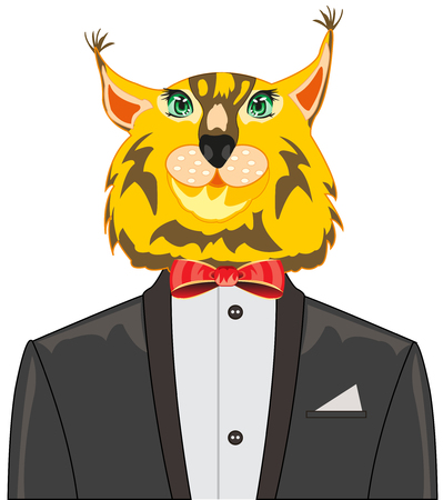 Animal trot in suit on white background is insulated