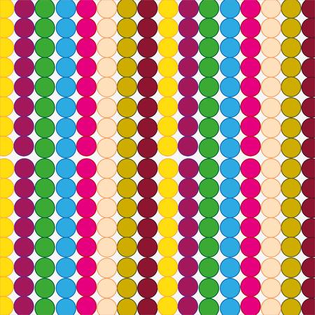Abstract background from figures circle varied colour Illusztráció