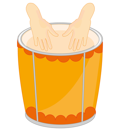Music instrument drum on white background is insulated