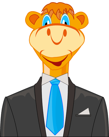 Camel in suit illustration. Ilustrace