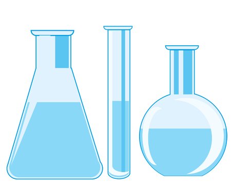 Flasks and test tube laboratory