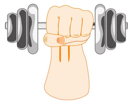 Hand raising dumbbell