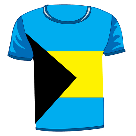 T-shirt with flag of the Bahamas Çizim
