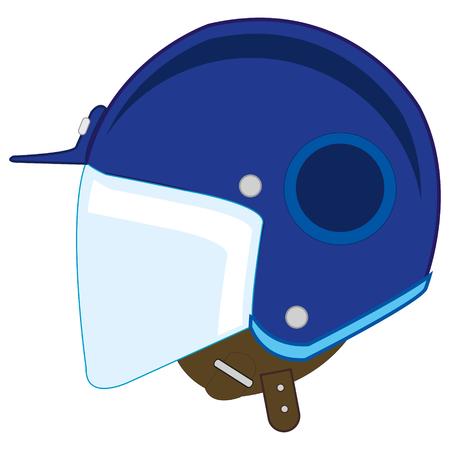 Defensive helmet illustration Illustration