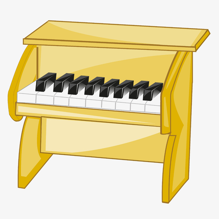 Piano, musical instrument illustration