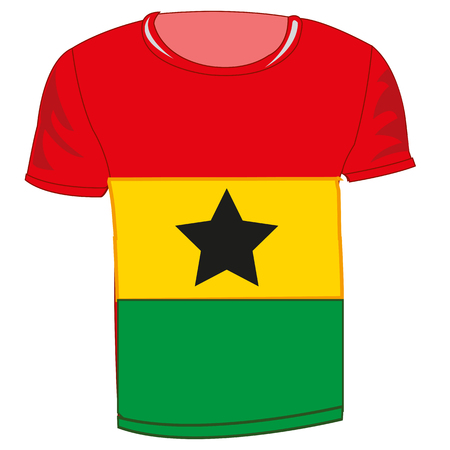 Cloth with flag state is Ghana Illustration