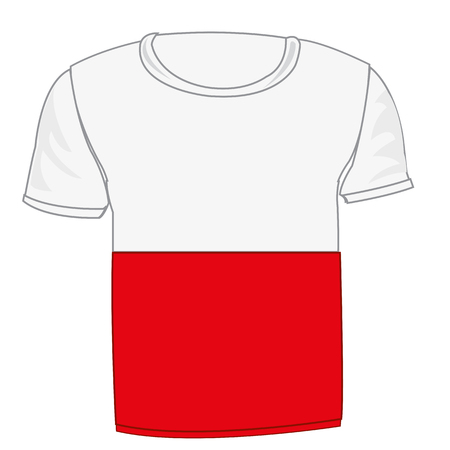 T-shirt flag Indonesia Illustration