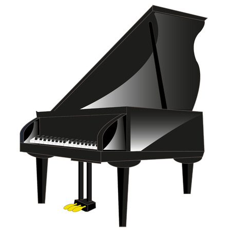 Drawing of the music instrument piano