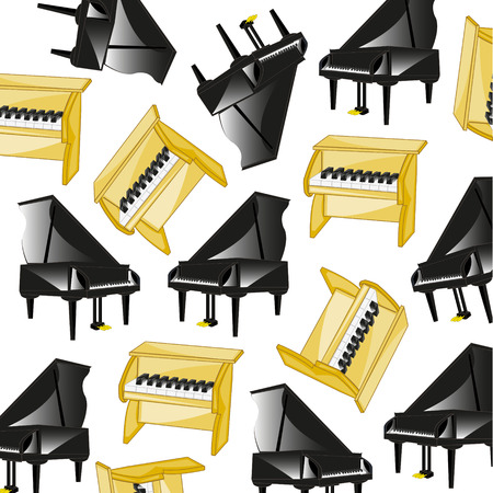 Two pianoes pattern