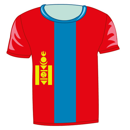 T-shirt flag Mongolia Illustration