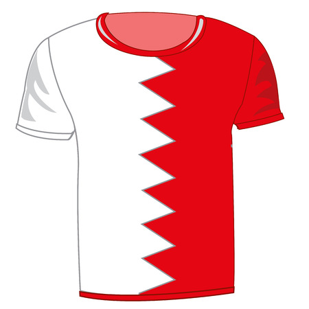 T-shirt flag Bahrain