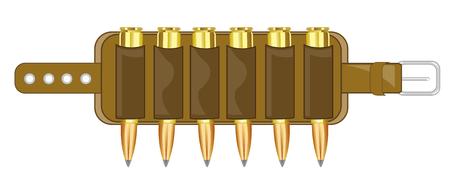Cartridge belt with patron